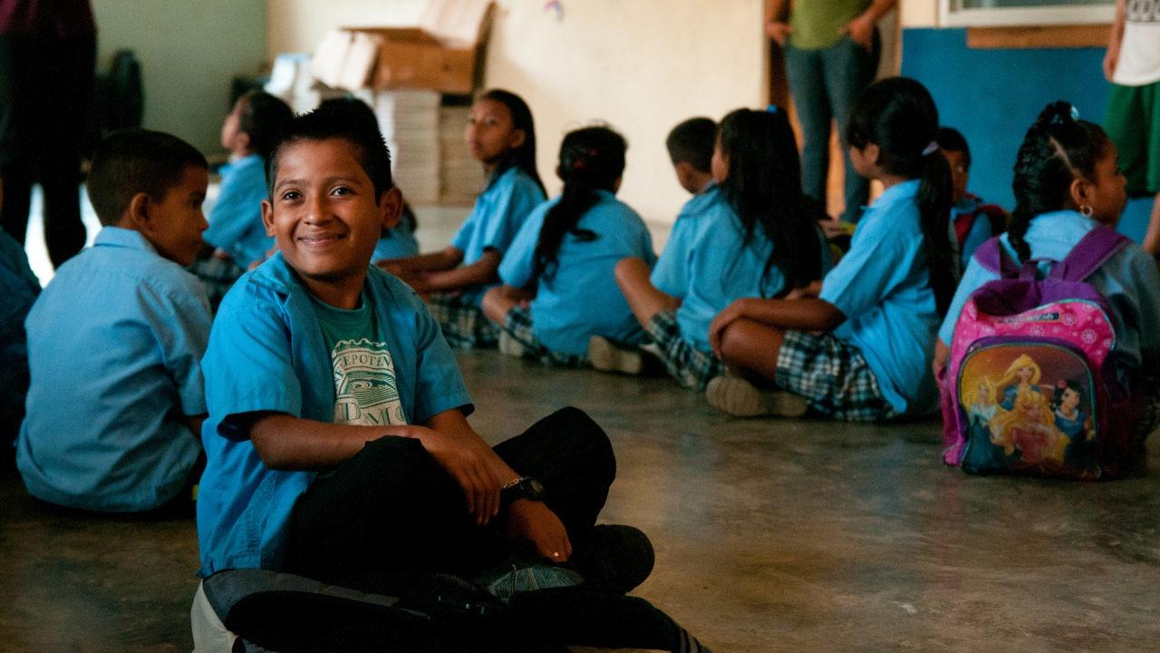 Bilingual Students in class Honduras