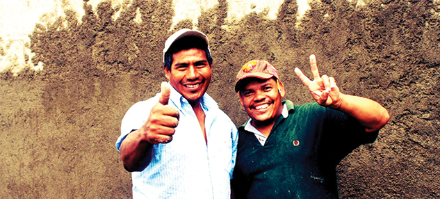 Honduran men volunteer projects abroad